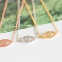 Evil eye necklace, cute evil eye necklace, dainty and chic everyday necklace, simple jewelry - gold / silver/rose gold