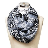 Scarfand's Mixed Infinity Brick Scarf (Chevron Black)