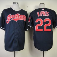 Cleveland Indians #22 Jason Kipnis Navy Blue Flexbase Collection Cool Base Stitched Jerseys MLB Baseball Jersey