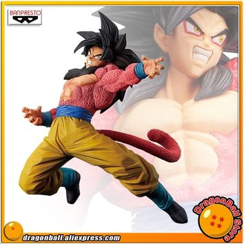 "Japan Anime ""Dragon Ball Super"" Original Banpresto Son Gokou FES !! vol.6 Collection Figure - Super Saiyan 4 Son Goku"