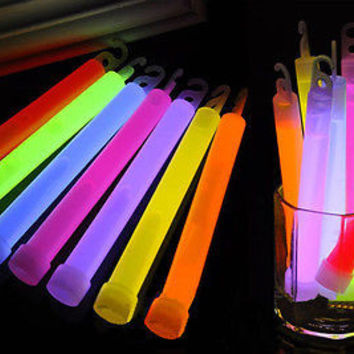 5pcs Glow Sticks Party Necklaces Light Assorted Lanyard Favors Neon Rave