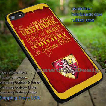 Harry Potter Gryffindor Dormitory Quote iPhone 6s 6 6s+ 5c 5s Cases Samsung Galaxy s5 s6 Edge+ NOTE 5 4 3 #movie #HarryPotter dt