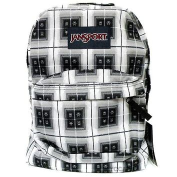 JanSport Classic SUPERBREAK® School BACKPACK - Black Arcade Plaid