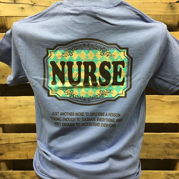 Southern Chics Nurse Tough & Soft CNA RN LPN RNA Girlie  Bright T Shirt