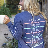 "Jadelynn Brooke I Like Coffee With My Oxygen ""Gilmore Girls""- Long Sleeve"