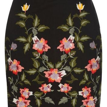 Ivy Flower Embroidered Skirt