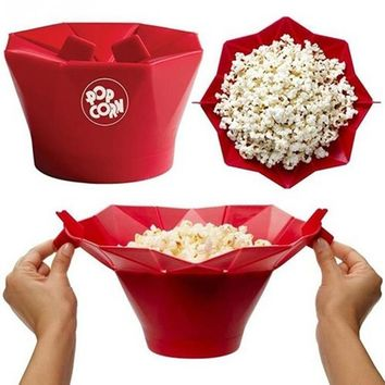 Home Baking Microwave Popcorn Popper Maker Bowl