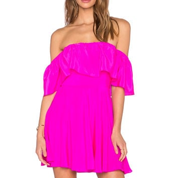 Amanda Uprichard Delilah Dress in Hot Pink Light