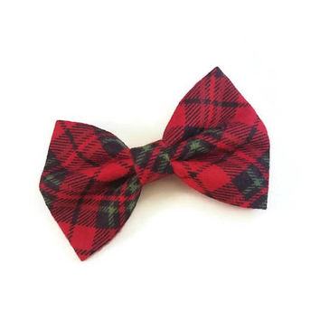 Holiday Plaid Bow • Christmas Bow • Winter Holiday Bow • Stocking Stuffers • Christmas Gifts • Santa Gifts • Gifts under 5 • Flannel Bow