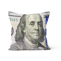 $100 Dollar Bill Pillow