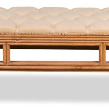 Halloway Bamboo Carved Bench