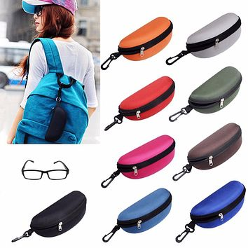 Colorful Cover Sunglasses Case For Women Glasses Box With Lanyard Zipper Eyeglass Cases High Quality Eyewear Accessories