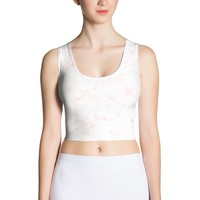 Red marble Sublimation Cut & Sew Crop Top
