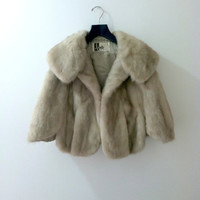 Vintage Rabbit Fur Coat 1950's