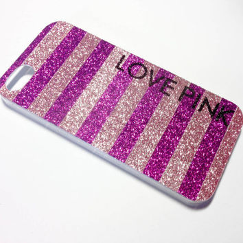 Love Pink iPhone 4/4S Case by VanityCases on Etsy