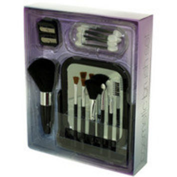 Cosmetic Brush Set with Vanity Mirror ( Case of 8 )