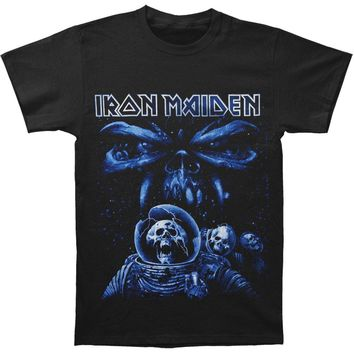 Iron Maiden Men's  Final Frontier Blue Album Spaceman T-shirt Black Rockabilia