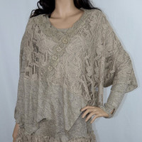Pretty Angel Knit Ruffle Hem Dress and Matching Coverlet Top