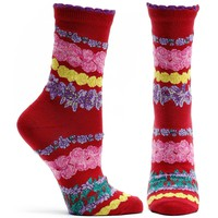 Wrap Around Garlands Sock