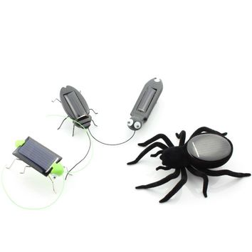 Mini Novelty Solar Panel Energy Powered Cockroach Robot Insect Bug Gadget kids Fun kit Science toys movement gift for children