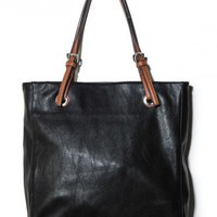 Loren Tote in Black - ShopSosie.com