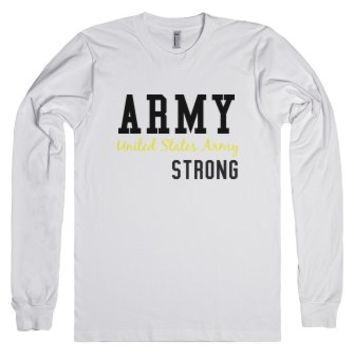 Army Strong-Unisex White T-Shirt