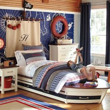 Speedboat II Bed & Trundle | Pottery Barn Kids