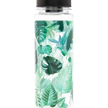 Sass & Belle Leaf Print Water Bottle