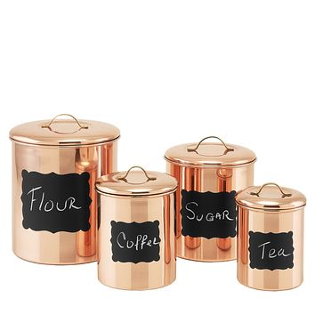 Copper Chalkboard Pantryware Collection by Old Dutch International