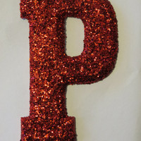 Glitter Name, Glitter letters, Minnie Mouse, Princess, Fairies, Little Girls Room- Customize A-Z and 0-9