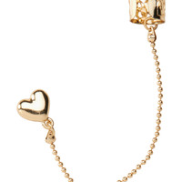 Aeropostale  Heart Ear Cuff - Gold, One