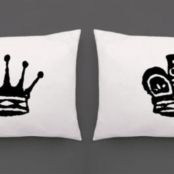 Chess Pillowcase Set | Screen Printed King and Queen Pillowcases