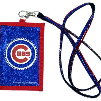 Ricoh Chicago Cubs Beaded Lanyard Wallet
