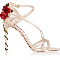 Dolce & Gabbana - Embellished satin sandals