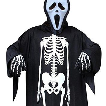 Halloween Costume Skeleton, Halloween Gloves Skeleton Costume Unisex Halloween Costume Scary for Adult Women Men Boys Girls Cosplay Skull GhostPerfect for Party & Holiday Occasion