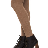 Charlize Over The Knee Socks - Taupe