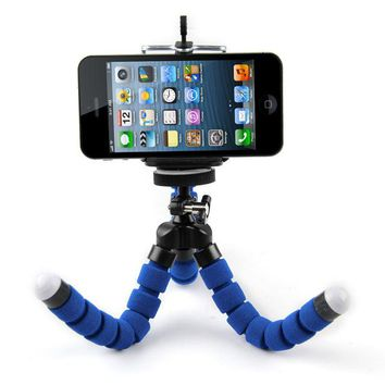 Mini Flexible Tripod Portable Sponge Octopus Tripod Stand Mount With Monopod Holder For Phone Gopro 4 3+ SJ4000 Camera Camcorder