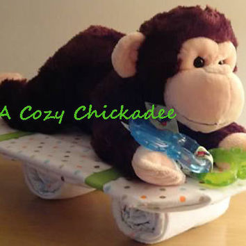 Baby Shower Centerpiece Monkey Cruising on a Skateboard