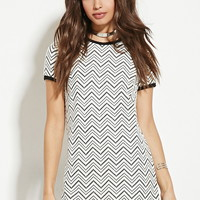 Textured Zigzag-Pattern Dress