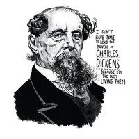 Charles Dickens poster print Great Writers