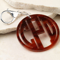 Monogram Acrylic Key Chain