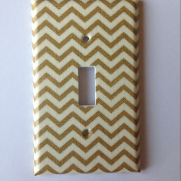 Metallic Gold Light Switch Plate Cover / Gold Home Decor / Gold Bedroom Decor / Gold Nursery Decor / Gold Bathroom / Switchplate Cover