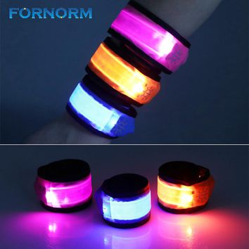 FORNORM LED Slap Bracelets Wrist Foot Ring Light for Outdoor Sports Running Riding Walking Armbands Glow Snap Bracelets