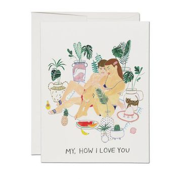 RED CAP CARDS MY HOW I LOVE YOU CARD