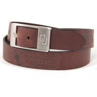 Oklahoma Sooners NCAA Men's Embossed Leather Belt (Size 40)