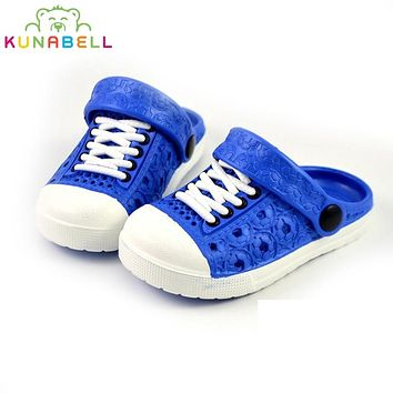 2017 summer baby boys girls Sandals & Slippers Shoes Children Casual Beach Comfortable Sandals Kids  Breathable Hollow Shoes
