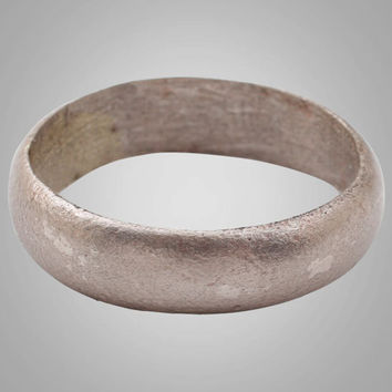 French Country Wedding Band, Viking Age Ring, C.866-1067A.D. Size 7 1/4  (17.1mm)(Brr769)