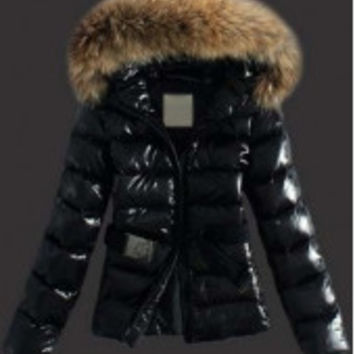 Trend Black Hooded Collar Winter Coat