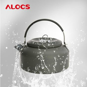 ALOCS brand outdoor kettle ultra light small portable  0.8L High Quality Outdoor Camping Hiking  Coffee Pot Teapot