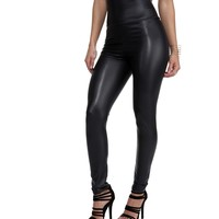 Black Smooth Machine Liquid Leggings